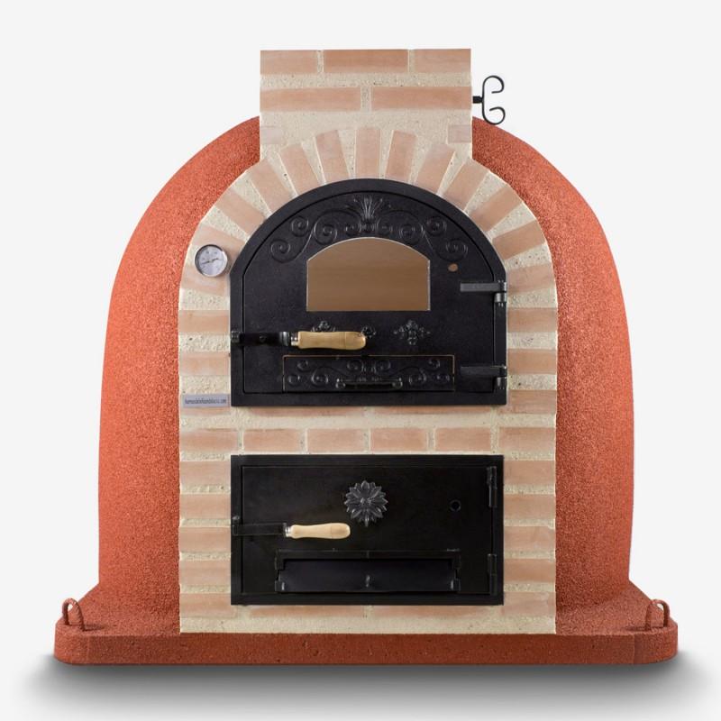 Horno con puerta de fundici n superior con hornilla for Horno de lena con hornilla