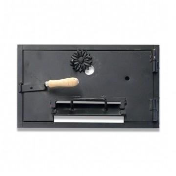 """Puerta de hornilla de fundición """"superior"""" para hornos de leña"""