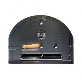 Puerta de acero macizo para hornos de leña