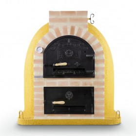 Horno con hornilla y puerta de fundición superior