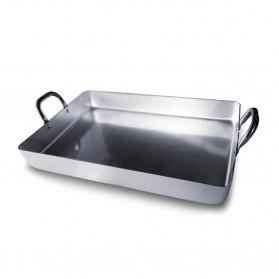 Bandeja rustidera de aluminio para hornos de leña y barbacoa
