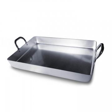 Bandeja rustidera aluminio profesional para hornos de leña